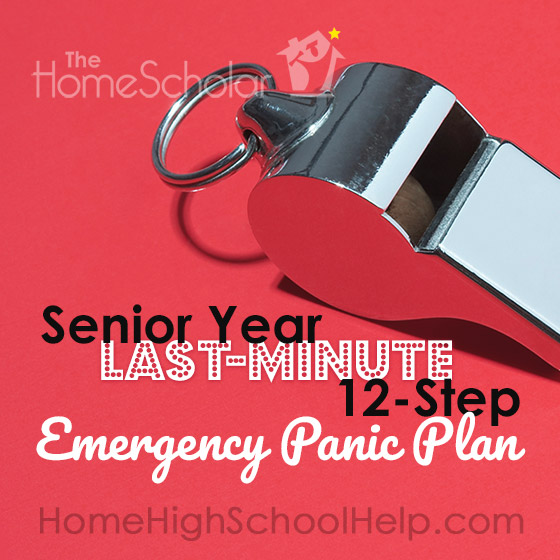 Senior Year Last-minute 12-Step Emergency Panic Plan