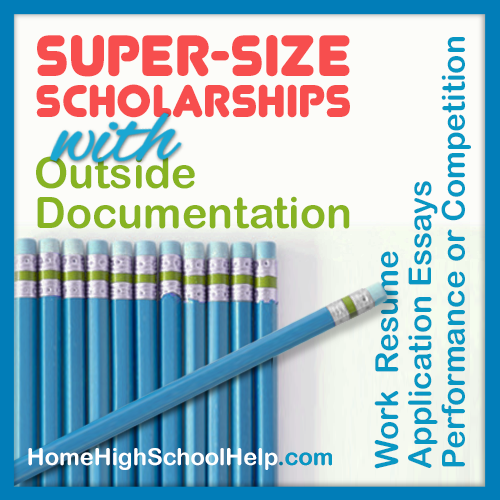 Super-Size Scholarships with Outside Documentation #Homeschool @TheHomeScholar
