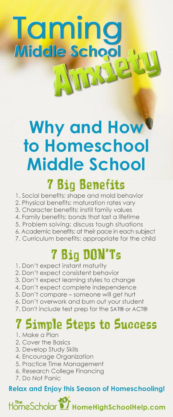 Taming Middle School Anxiety #Homeschool @TheHomeScholar