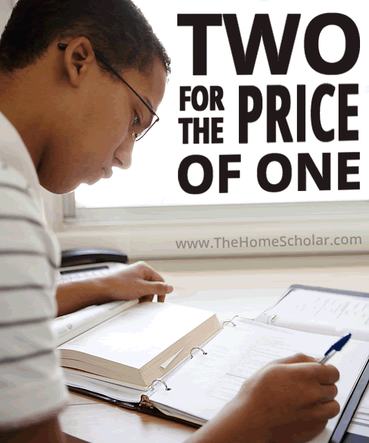 Two for the Price of One #Homeschool @TheHomeScholar