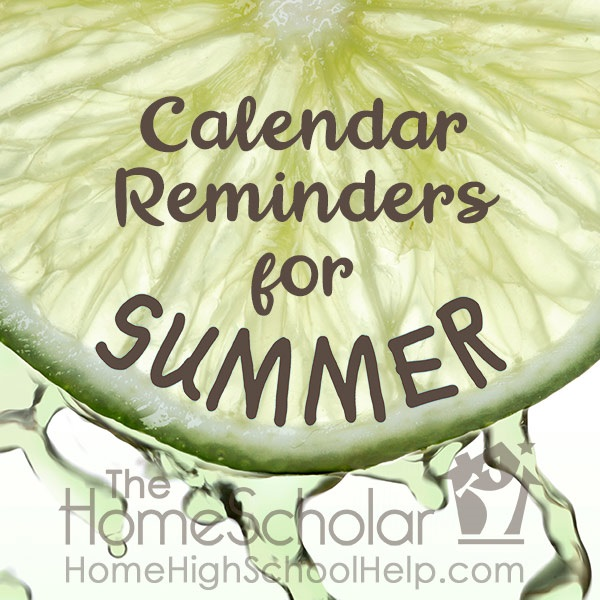 Calendar Reminders for Summer