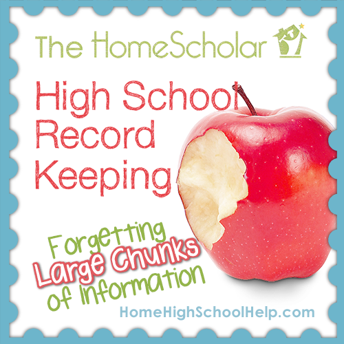 Homeschool Record Keeping - Forgetting Large Chunks of Information