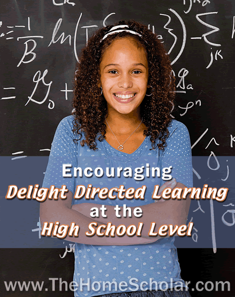 Encourage your homeschool student to love learning and find a great career with Delight Directed Learning in high school. TheHomeScholar