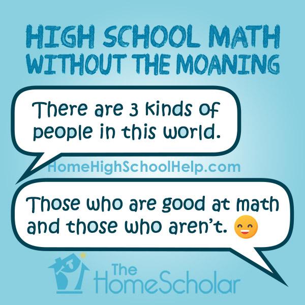 Correct Attitude for Homeschool Math