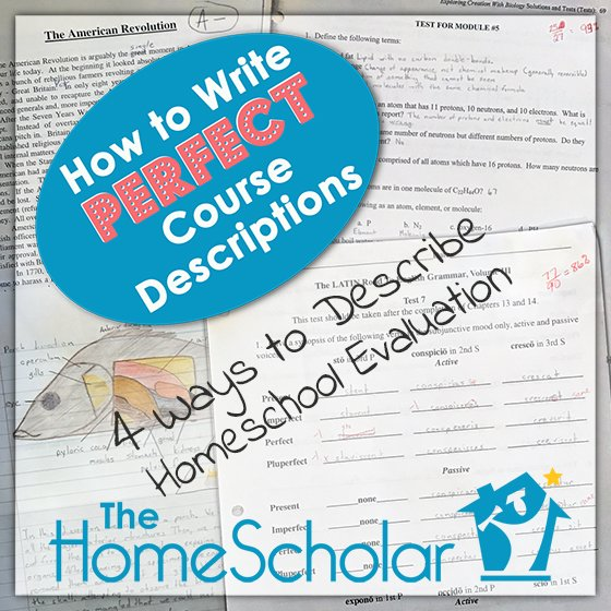 4 Ways to Describe Homeschool Evaluation
