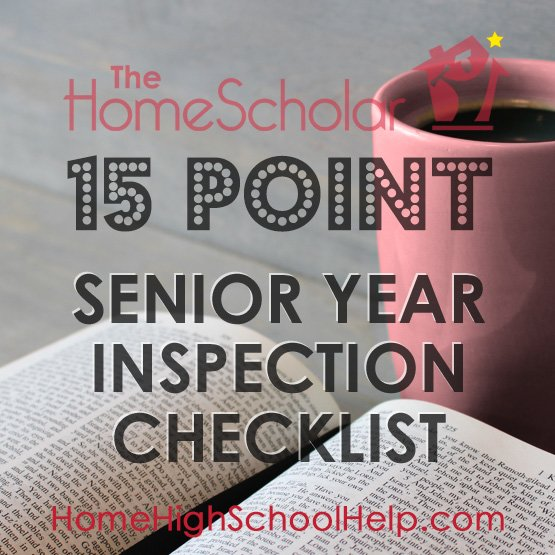 15 Point Senior Year Inspection Checklist